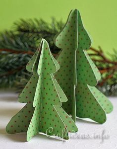 Free Paper Craft Ideas -Christmas - Craft a 3-D Christmas Tree out of paper