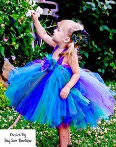 Baby Peacock  Princess Tutu Dress by roshalsaenz on Etsy, $45.00