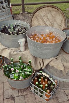galvanized tubs  for drinks