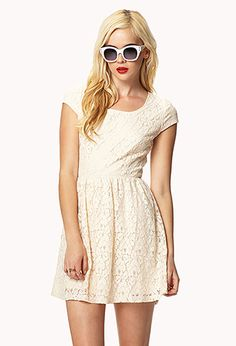 Cutout Back Lace Dress   FOREVER21 - 2035633066