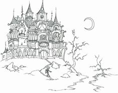 Printable Halloween Coloring Pages For Adults. Free printable halloween coloring pages for adults best, coloring pages for adults halloween pumpkin coloring page. Free printable halloween coloring pages for adults best. Scary Coloring Pages, Halloween Coloring Pages Printable, Castle Coloring Page, Free Halloween Coloring Pages, Batman Coloring Pages, House Colouring Pages, Pumpkin Coloring Pages, Adult Coloring Book Pages, Christmas Coloring Pages