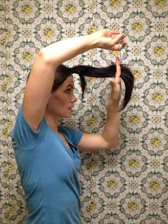 5 DIY ponytail haircuts... This is how I've cut my hair for the past 2 years.