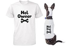 Cute Dog and Owner Matching T-Shirt 100% brand new & 365Printing brand / Designed & printed in USA 100% Cotton / High quality, enzyme washed lightweight material