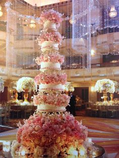 Sylvia Weinstock cake....famous for copious spun sugar flowers that look real