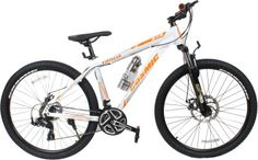 COSMIC TRIUM 27.5 INCH MTB BICYCLE 21 SPEED WHITE/ORANGE-PREMIUM EDITION .