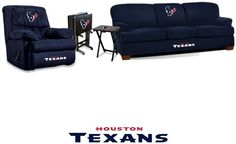 Houston Texans Microfiber Furniture Set at sportsfansplus.com~Maybe for our future game room....