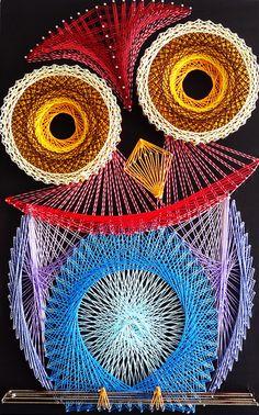Aline Campbell: Owl string art