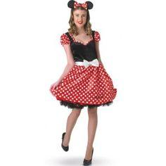Déguisement Disney Minnie Mouse Adulte Femme, Déguisement Sassy Minnie Mouse Adulte, licence Disney, carnaval, fêtes.