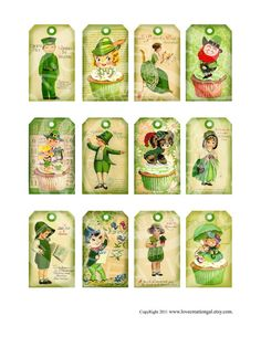 Items similar to Vintage Shabby St Patricks Day Green Tree tea Party Irish Easter Boys Girls gift tags Greeting card Digital Collage Sheet Images on Etsy St Patrick's Day Gifts, Girl Gifts, Vintage Cards, Vintage Postcards, St Patricks Day Cards, Saint Patricks, Irish Blessing, St Paddys Day, Shabby Vintage
