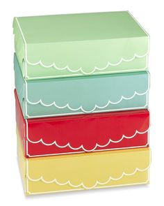 Cupcake Boxes, Set of 4, Multicolors- what could I put in these?