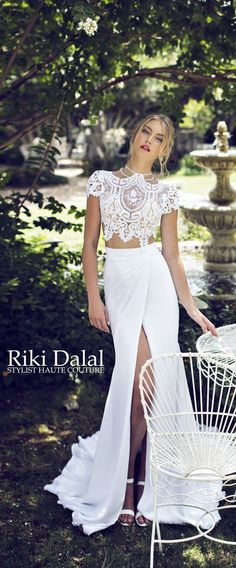 """Bringing luxury to life should be the tagline behind Riki Dalal luxury bridal wear. If feminine vibes and glamorous designs send your heart aflutter, then you'll adore Riki Dalal's new """"Provence"""" Collection. A real feast for the eyes, this amazing assortment of various fabrics, ranging from silk cre"""