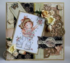 Card with Magnolia Stamp