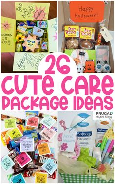 Take a look at these fun gifts to send in the mail including monthly and seasonal themes as well has punny phrases! Care package ideas for everyone!