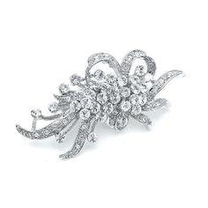 Vintage Crystal Wedding Brooch
