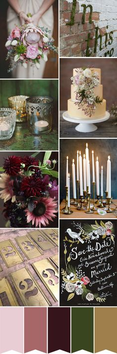 Dark Romance - A Botanical Inspired Colour Board - Read more on One Fab Day: http://onefabday.com/botanical-inspired-colour-board/