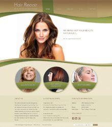 Hair Repair Website Template