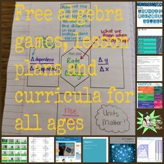 Free algebra games, lesson plans and curricula for all ages