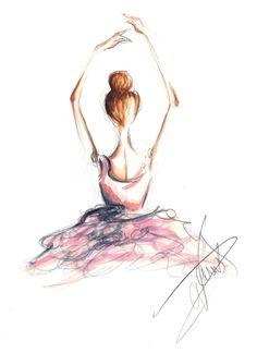 Dorinus Illustrations  Ballerina illustration for Fairytale Couture photography.