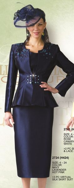 Lily and Taylor 2724 Womens 3pc Church Suit
