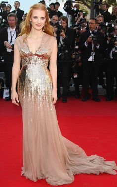 Jessica Chastain in Gucci at Cannes 2012