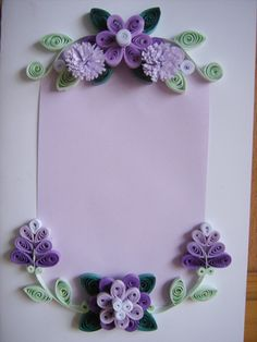 *QUILLING ~ Card