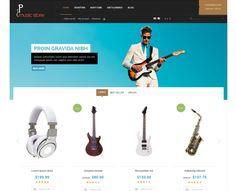 """Das MusicStore Template ist ein Design für echte Musikbegeisterte. Es sticht mit seinem schicken und übersichtlichen Design, schon beim ersten Anblick, hervor. Verkaufen Sie ihre Instrumente auf eine Art und Weise, wie Sie es verdient haben. Echte Musikliebhaber werden es zu schätzen wissen. Setzen Sie Ihre Musikinstrumente in Szene """"and let the music pay""""! Mehr info auf: http://onshop.de/musicstore-desin-let-music-pay/"""