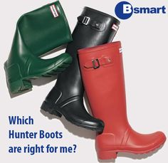 Choosing the right Hunter Boots without trying them on is never easy. Check our new blog for some handy tips!