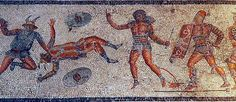 Gladiator mosaic, Leptis Magna