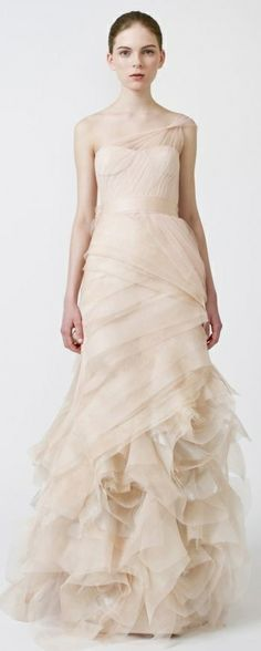 Vera Wang  - Farrah I'm obsessed with the gray and blush versions of this dress. And I generally am not a fan of tulle!