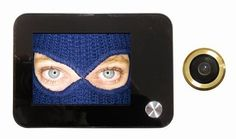 BRAVO SOTTOCCHIO TELECAMERA SPIONCINO DIGITALE IN KIT PER PORTA BLINDATA DOTATO DI MONITOR LCD DA 3,5 POLLIC immagini