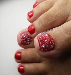 Red Toe Nail Art