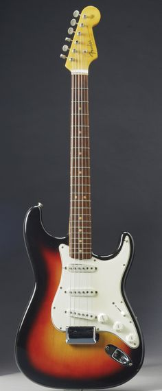 """The Fender Stratocaster that's going on sale next month and may fetch $500,000 because experts say it was played by Bob Dylan when he """"went ..."""