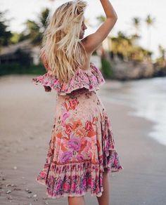 abf226fd4e7 Siren Song Strappy Dress in Flamingo