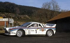 The Lancia Rally 037 Number 1 driven by Walter Rohrl and Christian Geistdorfer to win the 1983 Monte Carlo Rally. Sport Cars, Race Cars, Monte Carlo Rally, Rally Raid, Hatchback Cars, Martini Racing, Monaco Grand Prix, Lancia Delta, Classic Italian