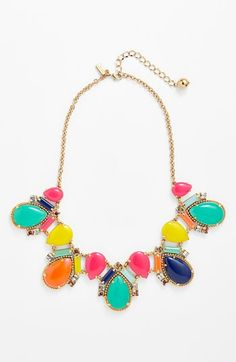 kate spade new york 'amalfi mosaic' frontal necklace. $178. Absolutely adore this necklace.
