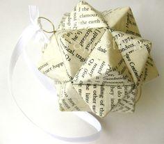 Shakespeare Origami Ornament - Hamlet Upcycled Modular