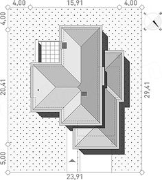 Projekt domu Wyjątkowy 3 203,5 m2 - koszt budowy - EXTRADOM My Dream Home, Cube, House Plans, Projects To Try, House Design, How To Plan, Architecture, Dream Houses, Houses