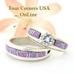 Size 7 1 2 Engagement Bridal Wedding Ring Set Pink Fire Opal Native American Silver Jewelry WS 1465