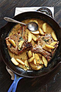 Apple Cider & Sage Pork Chops with Caramelized Apples