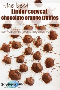 Need a last-minute gift? These chocolate orange truffles are divine, and taste like the orange Lindor chocolate truffles. Very easy to make, with just 6 ingredients!