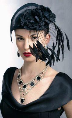Black Feather Fan.