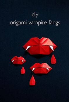 DIY Origami Vampire Fangs - Vitamini Handmade