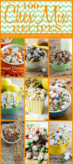 100 Party Chex Mix Puppy Chow Recipes and Appetizers @ Sew Licious Home Decor|
