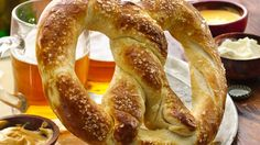This king-size pretzel will bring down the house. Serve it in your game-day spread for a guaranteed win.