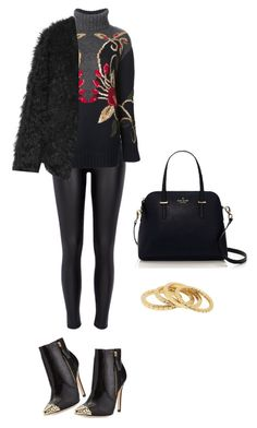 """Untitled #1271"" by mina1924 ❤ liked on Polyvore featuring Alice + Olivia, River Island, Tory Burch, Ravn, Kate Spade and Witchery"