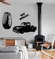 1c66acf96fec94 Wall Vinyl Decal Hot Wheels Luxury Car Truck Pick Up Cool Amazing Decor  1334dz. Modern Wall DecalsVinyl ...