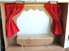 zakka life: Craft: Cardboard Puppet Theater