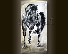 "Oil Painting Settlement Horse 16/""x20/"" Home Decor  Art Canvas Print"