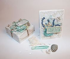 My Craft and Garden Tales: Gift box and card with Kaisercraft's Coastal Escape collection Hobbies And Crafts, Hyde, Baskets, Coastal, Decorative Boxes, Paper Crafts, Create, Garden, Projects