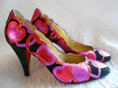 Vintage+Beverly+Feldman+Pink+Heart+Heels+by+madisonavenuevintage